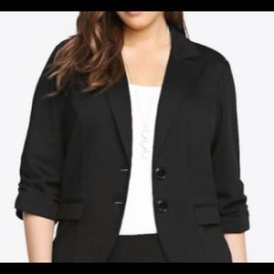 Torrid Black Blazer with Buttons - Size 2
